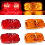 Purishion 2x Car Led License Plate Tag Light 12v Side